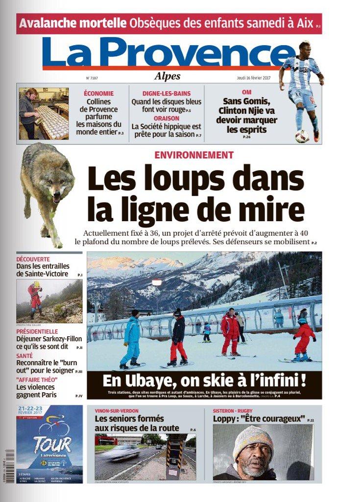 A La #Une de LaProvence #Alpes #loup: faut-il en tuer plus? #économie #CollinesdeProvence  #ski  #Ubaye  #chevaux<br>http://pic.twitter.com/ket8ZeBmuk