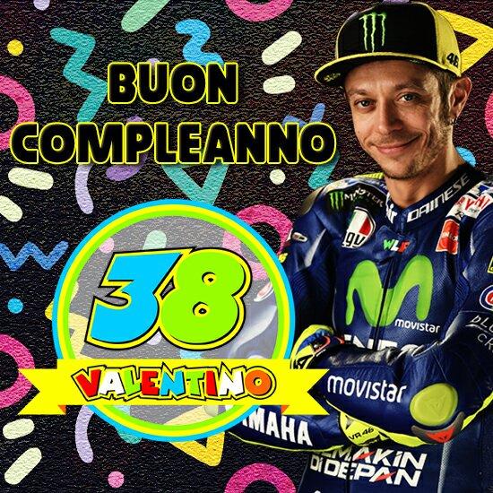 Dnes slaví 38. narozeniny Valentino Rossi Tanti auguri di Buon Compleanno CAMPIONE! Happy Birthday, champion!