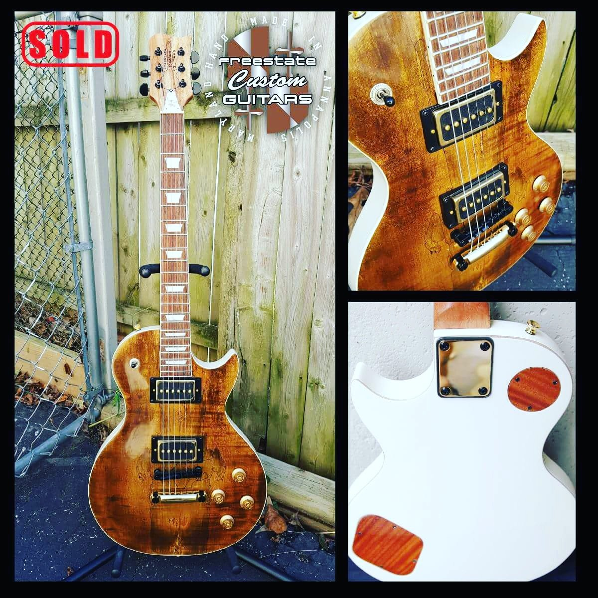 Another bad ass guitar done for a very happy person! #getsome #rawk #freestatecustomguitars #luthiers #guitars #woodkillers <br>http://pic.twitter.com/dUvgliK2Em