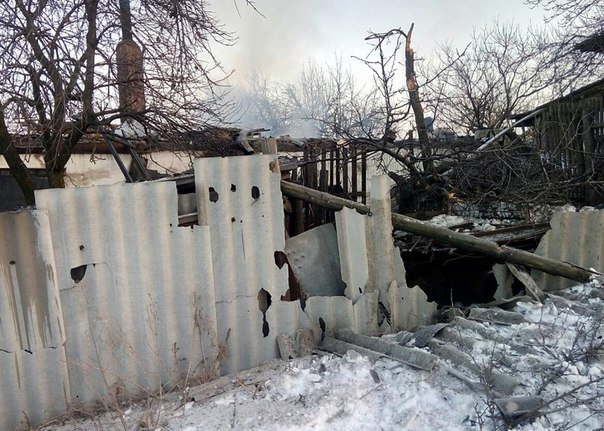 Damage in Avdiivka after shelling last night