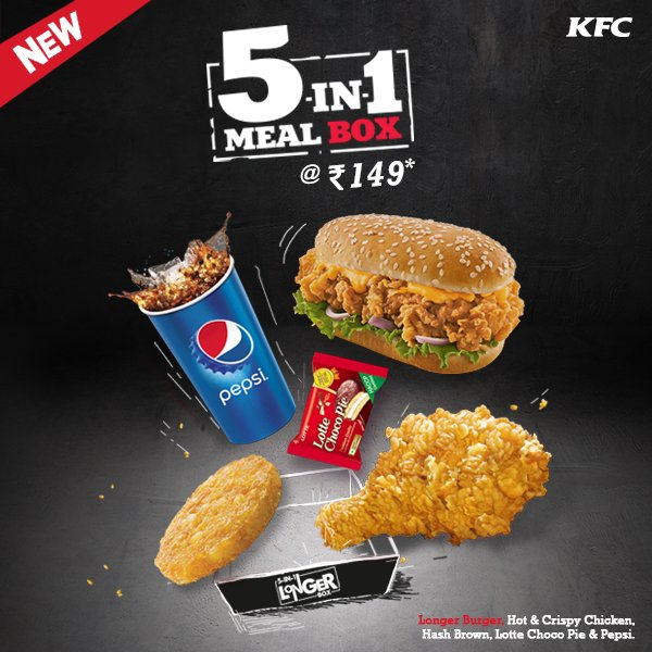 Kfc India On Twitter Hi Base Price Of The Longer Meal Box Is Rs