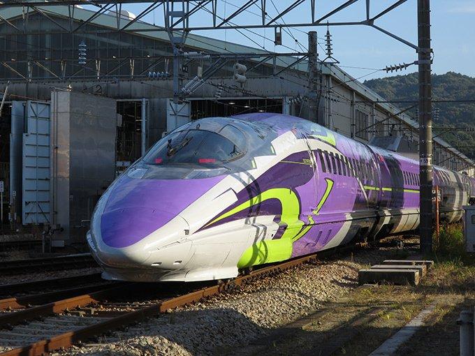 新幹線:エヴァンゲリオン プロジェクト「500 TYPE EVA」車両で大阪~博多間ツアー実施 fa…