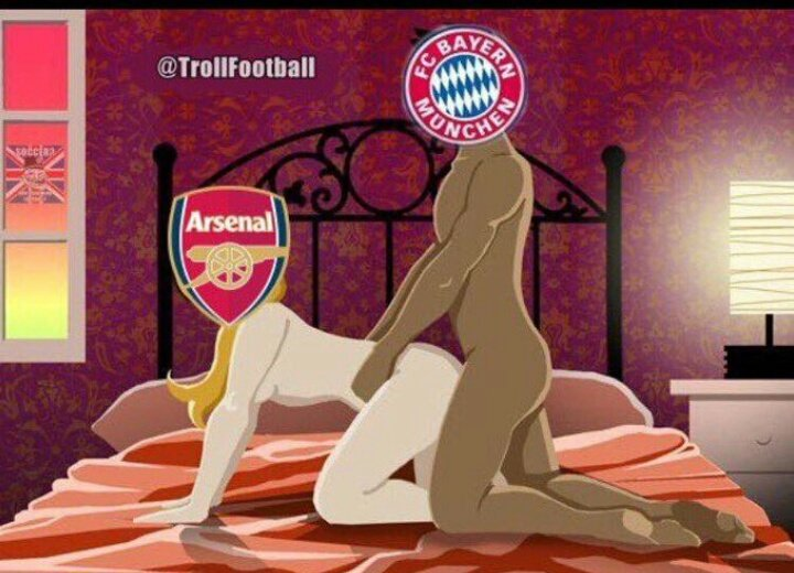 And that's was how @FCBayern smashed @Arsenal. Lovely Val's day action...