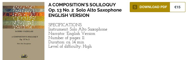 A COMPOSITION&#39;S SOLILOQUY Op. 13 No. 2  Solo Alto Saxophone  download at  http:// ALLMUSICALKIND.COM  &nbsp;   #saxophone #sax #concert #brass #woodwind <br>http://pic.twitter.com/y7s5m9LpuO