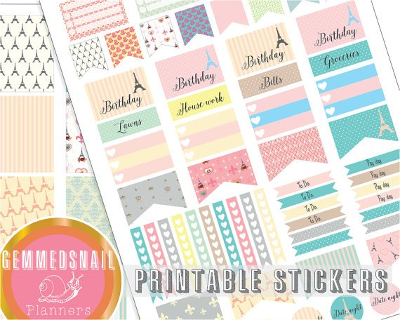 Printable planner stickers, Paris planner stickers printable,  fits Erin Condren planners, France..  https://www. etsy.com/listing/262589 657/printable-planner-stickers-paris-planner?utm_source=around.io&amp;utm_medium=twitter&amp;utm_campaign=around.io &nbsp; …  #etsy #planner <br>http://pic.twitter.com/mX6ie2q8Dk
