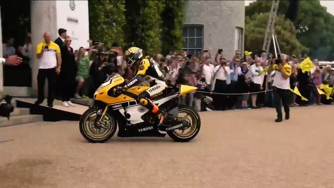 Happy Birthday Valentino Rossi! Here\s the moment he rode straight into Goodwood House!