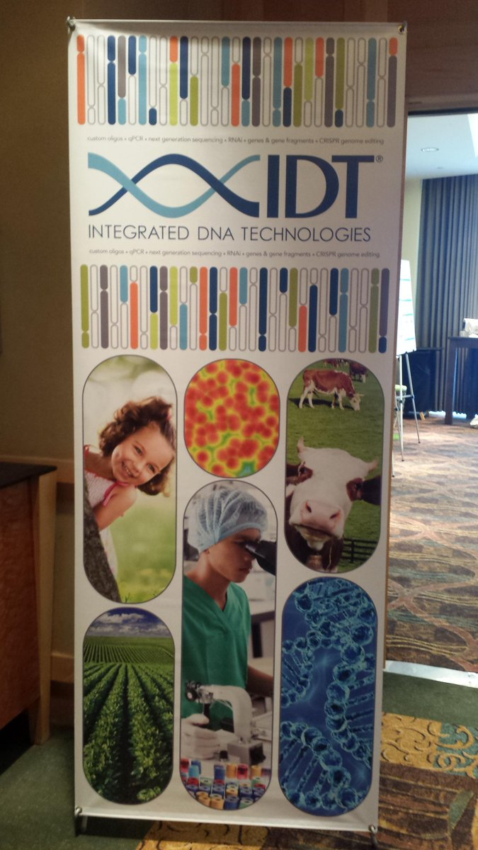 @IDTDNA celebrating 30 years of custom oligos #AGBT17 https://t.co/Sp1Bk9DiM5