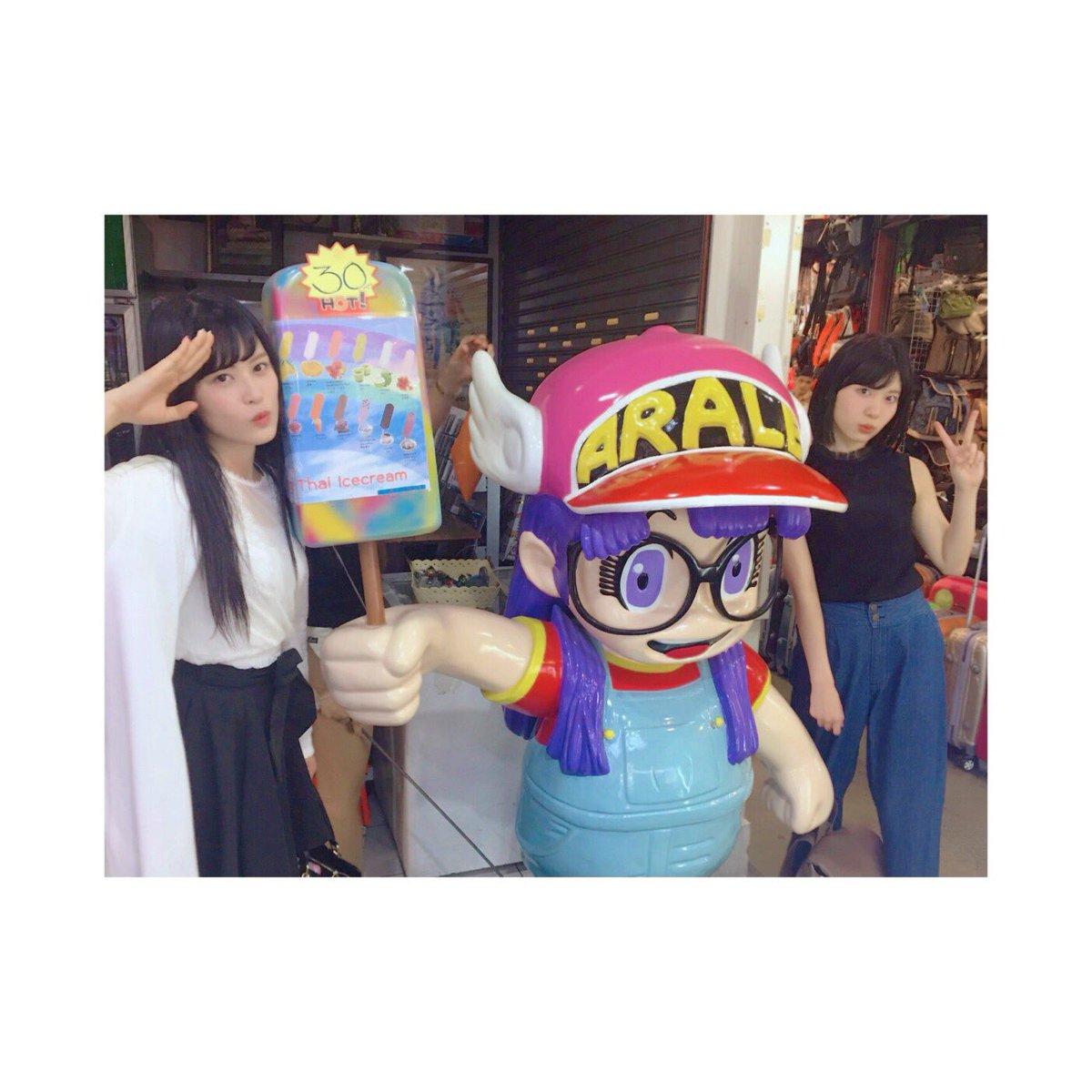 日本ただいま!! 冬だ〜〜❄️☃️😖  タイでアラレちゃんに会ったよ😍んちゃ!