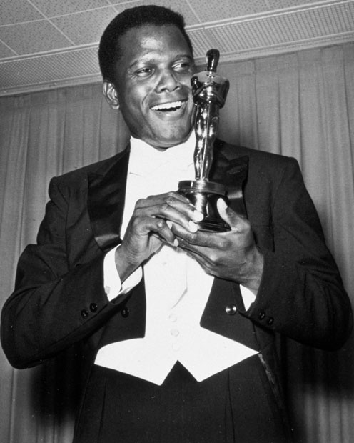 Image result for actor sidney poitier first black to win an oscar