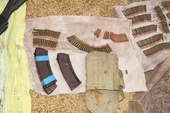 ATO spokesperson: The Police disclosed a weapons cache in a private house in Lysychansk