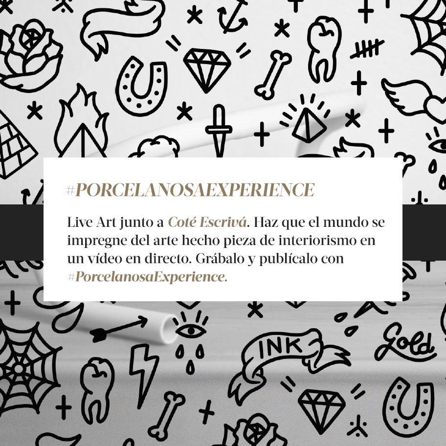 #PorcelanosaExperience Ilustración en vivo con @cotescriva. Haz que el mundo se impregne de arte hecho interiorismo! https://t.co/bmFd80ZNSG