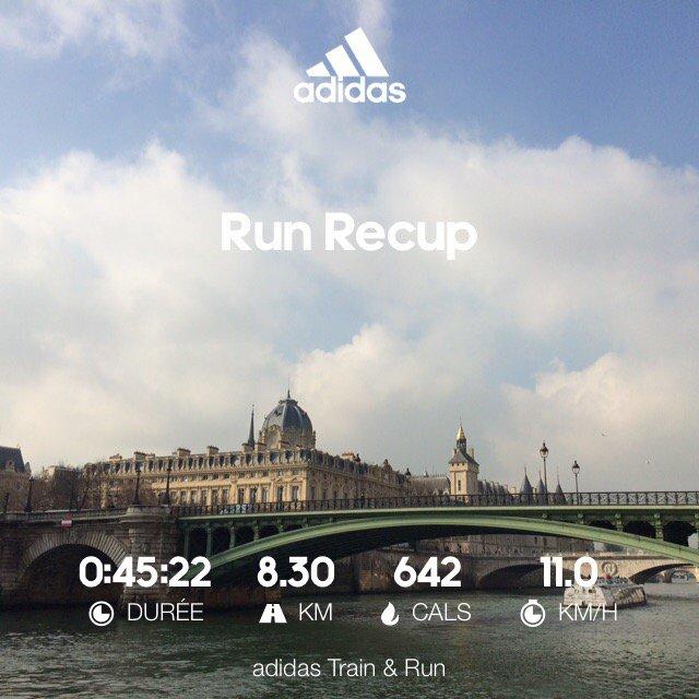 Run recup Allure pepouze. Début de la prepa marathon demain!!! #whyirunchampselysees #marathon #adidasrunner #mp2017<br>http://pic.twitter.com/yTgGakTqWR