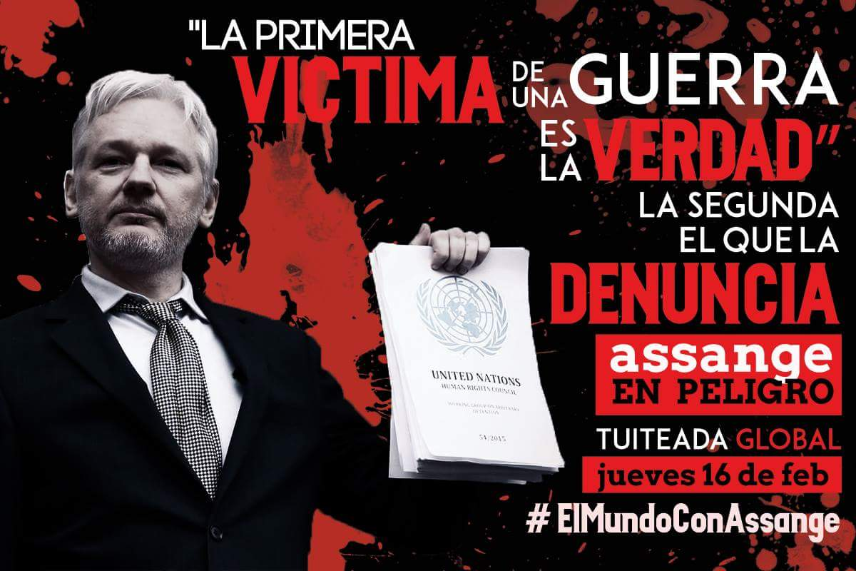 .@wikileaks: #ElMundoConAssange