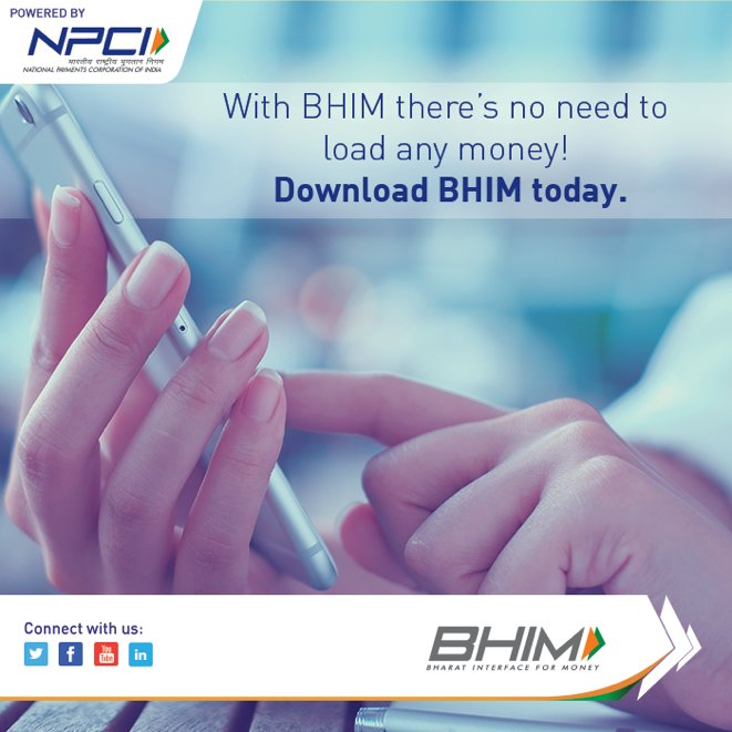 BHIM lets you make direct bank to bank transactions without any need to load money on the app.  #BHIMApp #BHIM <br>http://pic.twitter.com/Hr2opvCF6u