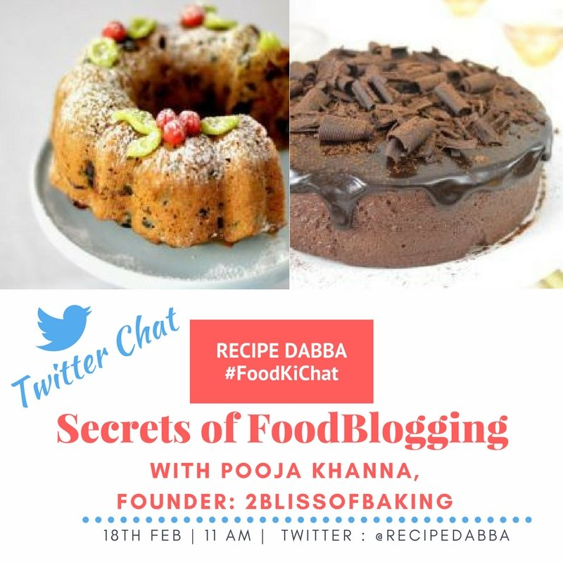 Join us for this super tweetchat #Foodkichat on 18th Feb, 11AM right here with on &#39; Secrets of Food blogging&#39; #foodblogging <br>http://pic.twitter.com/B9AP4NoVg8