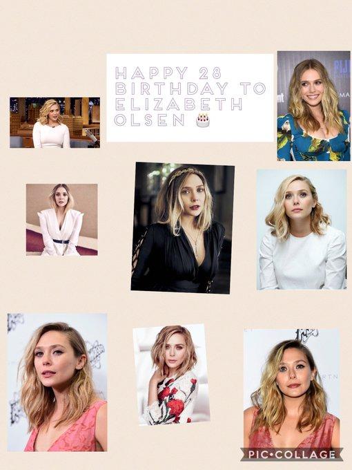 Happy 28th birthday to Elizabeth Olsen . Hope that she has a wonderful birthday.