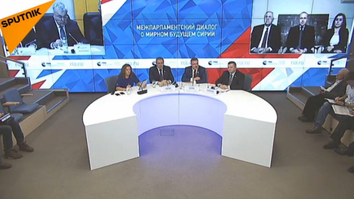 [#ENDIRECT] Duplex #Moscou-#Damas-#Astana: «Dialogue interparlementaire sur l'avenir pacifique de la #Syrie»     http:// sptnkne.ws/d85U  &nbsp;  <br>http://pic.twitter.com/OoCGiCxHO1