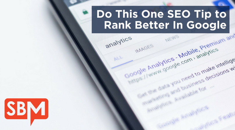 Do This One SEO Tip to Rank Better In Google https://t.co/ICV5AA25kR #SEO #edu https://t.co/R45EU3VeCG