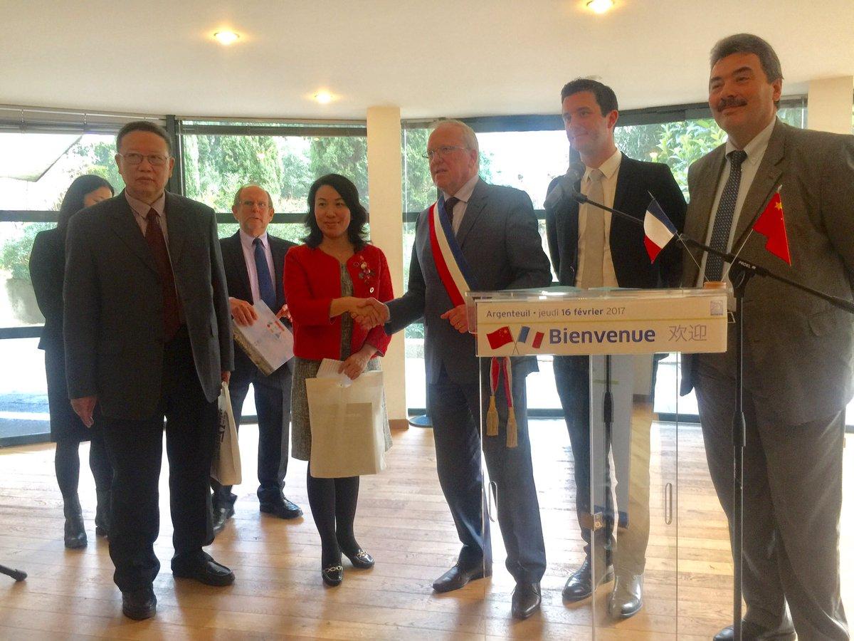 Visite d&#39;une délégation chinoise @VilleArgenteuil reçue par @GMothron #partenariats #economie <br>http://pic.twitter.com/MixR0pZCRJ