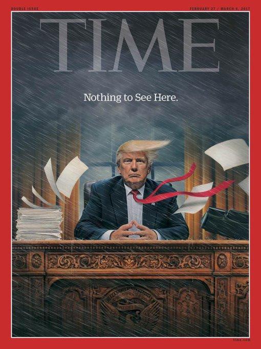 La merveilleuse couverture de 'Time'