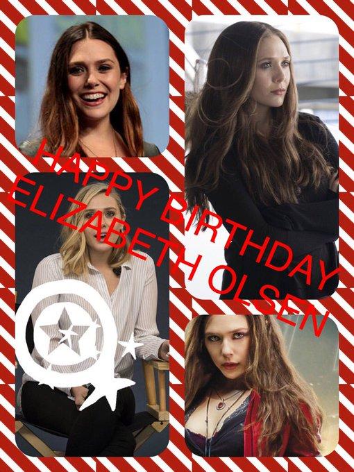 HAPPY BIRTHDAY ELIZABETH OLSEN UR MY FAVORITE