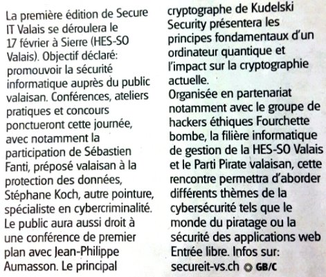 J-1  La 1ère journée sur la #cybersécurité en #Valais se tiendra demain à partir de 8:45  http:// bit.ly/2lSnYgD  &nbsp;   via @SecureIT_Valais <br>http://pic.twitter.com/4lxH7Hhee9