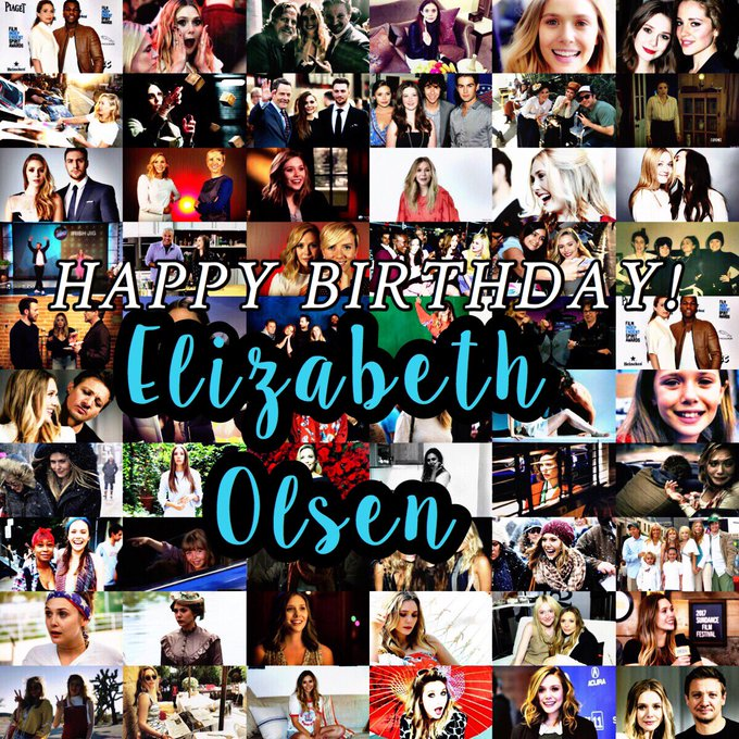 Happy Birthday Elizabeth Olsen! Hope you have a great birthday darling!