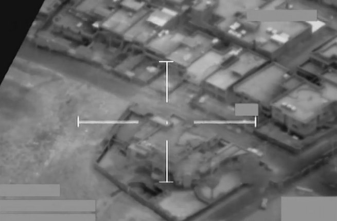 RAF airstrike on a Daesh headquarters in north-western Mosul geolocated