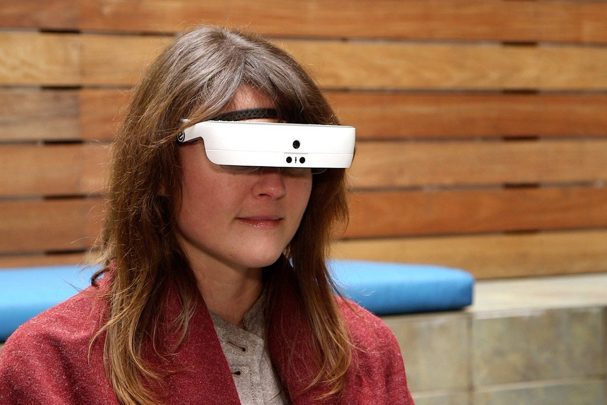 For the blind, a headset that gives them sight.