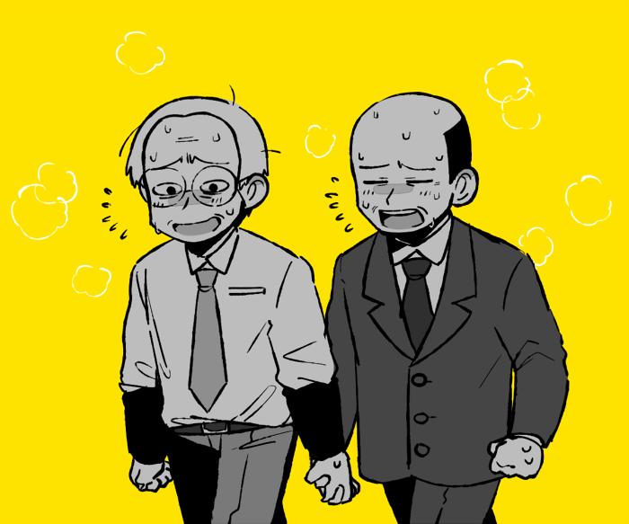 教頭と校長のカカカカタオ●イ