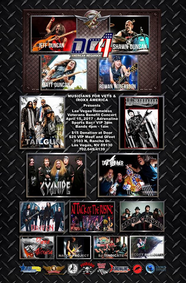 .@PhilipJGreene .@DC4Megarock 4/15 - #Veteransbenefit in #LasVegas @ Adrenaline Sports Bar! $10 Adv Tix -  http://www. ticketfly.com/purchase/event /1429064 &nbsp; … <br>http://pic.twitter.com/ANrHz7Ougz