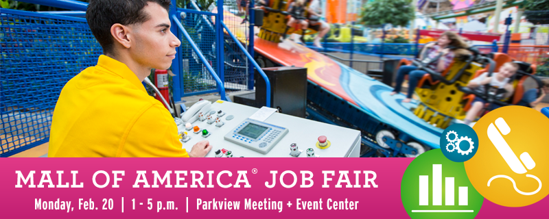 South Metro Job Fair at Mall of America ® aims to continue the downward trend in Minnesota s unemployment rate WHAT: The Minnesota employment rate remains at percent according to the state Department of Employment and Economic Development.