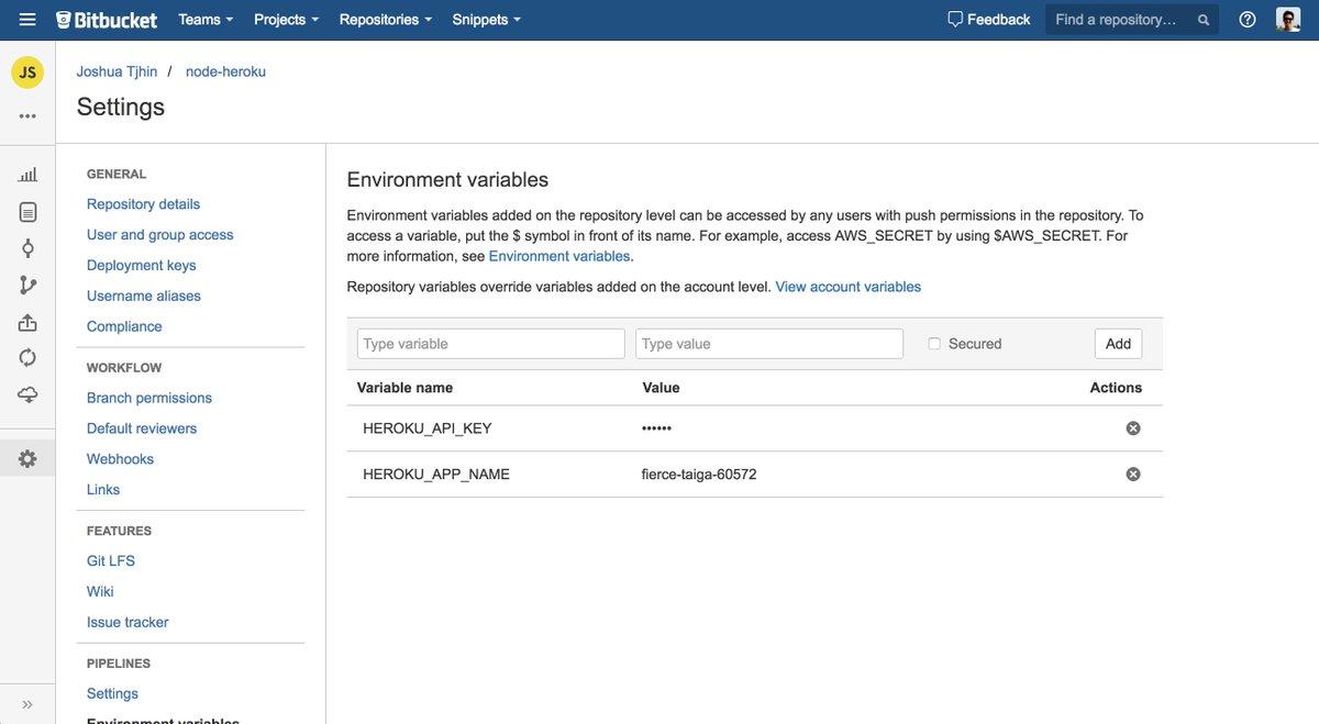 Atlassian Bitbucket On Twitter Want To Deploy To Heroku From