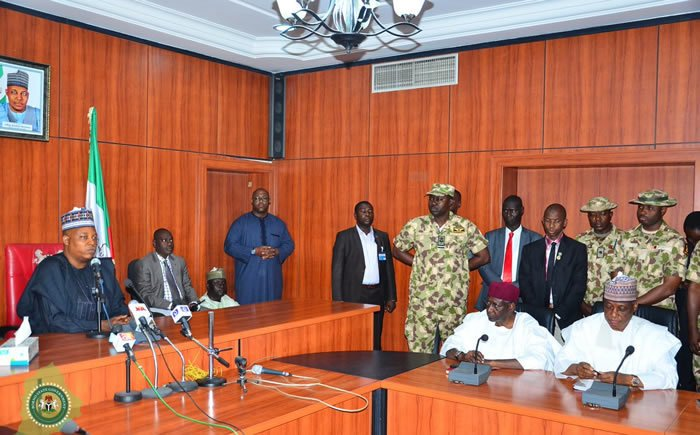 Press briefing on the reports of bombing of IDP camp in Rann, Borno, clashes between Army & Police in Damaturu, Navy and Police personnel in Calabar