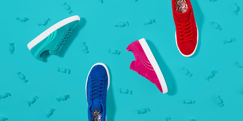 Finally, you can have your kicks and eat 'em too. #Suede Badge