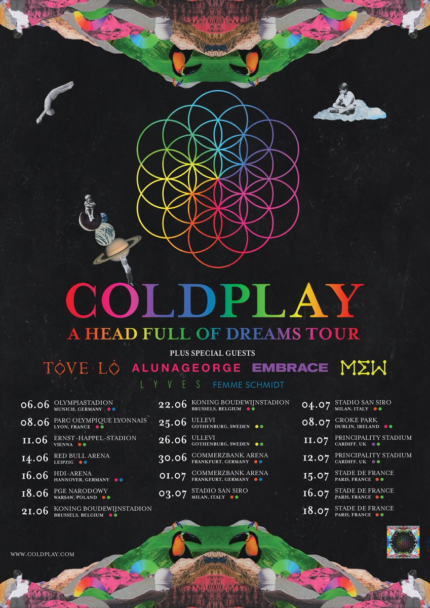 Coldplay Tour  Dates