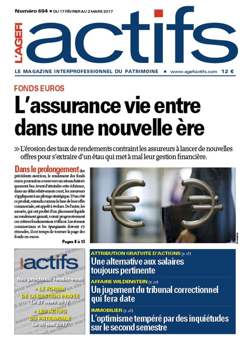 A la #une de L&#39;AGEFI ACTIFS numéro 694 :  #Fonds euros : L&#39;assurance vie entre dans une nouvelle ère.  http:// bit.ly/1hXcPYL  &nbsp;  <br>http://pic.twitter.com/qE7Qj2LKYX