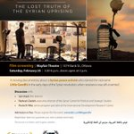 Don't miss the documentary film screening about #SyriaCrisis @IDRC_CRDI