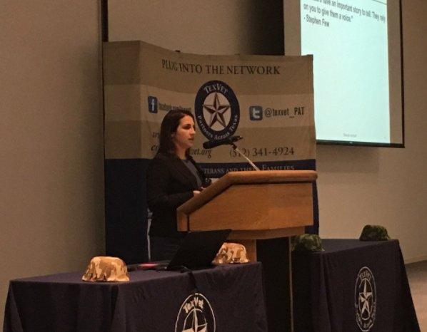 Thanks so much to @texvet for the opportunity to provide keynote remarks from #IAVA Research Director, @DocFooch this morning at #TexVet2017 https://t.co/ISEEngbWEV