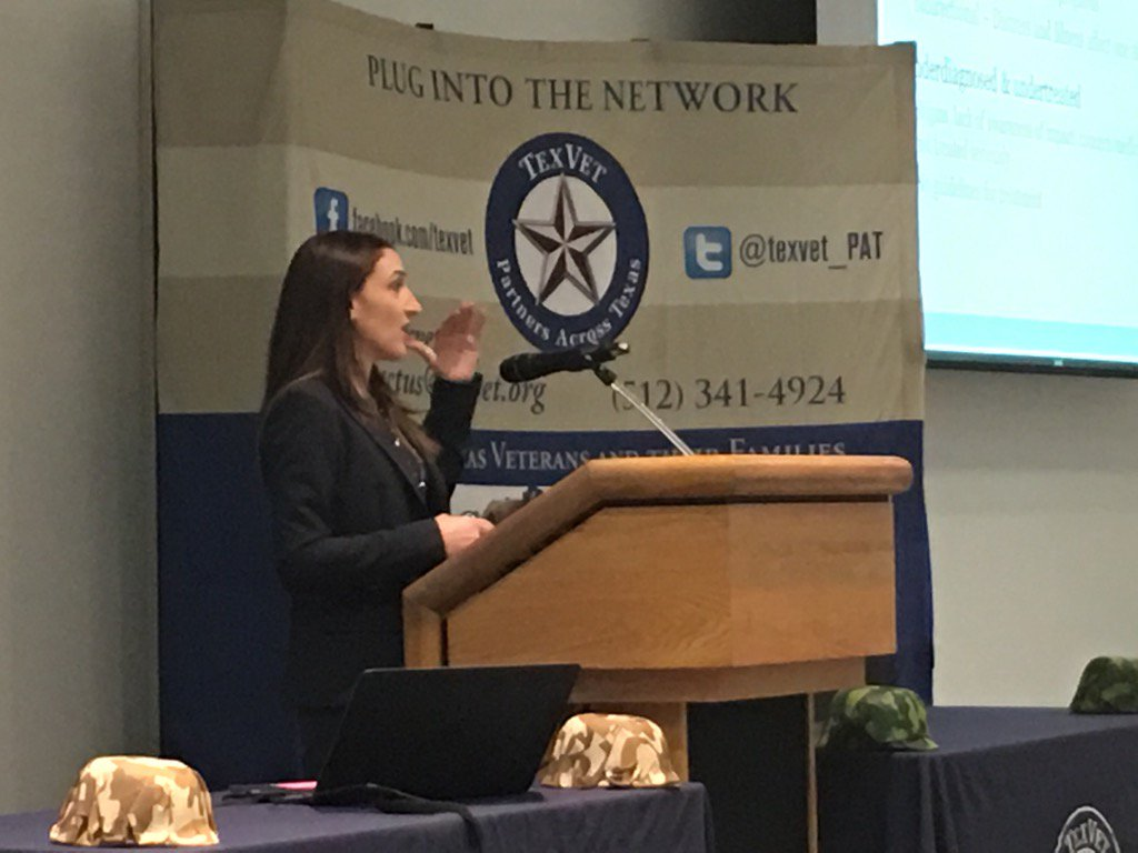 Dr Lilian Dindo @ #TexVet2017: bidirectional impacts of health & distress are key to helping Vets w/ MH needs https://t.co/48cv26jRtb