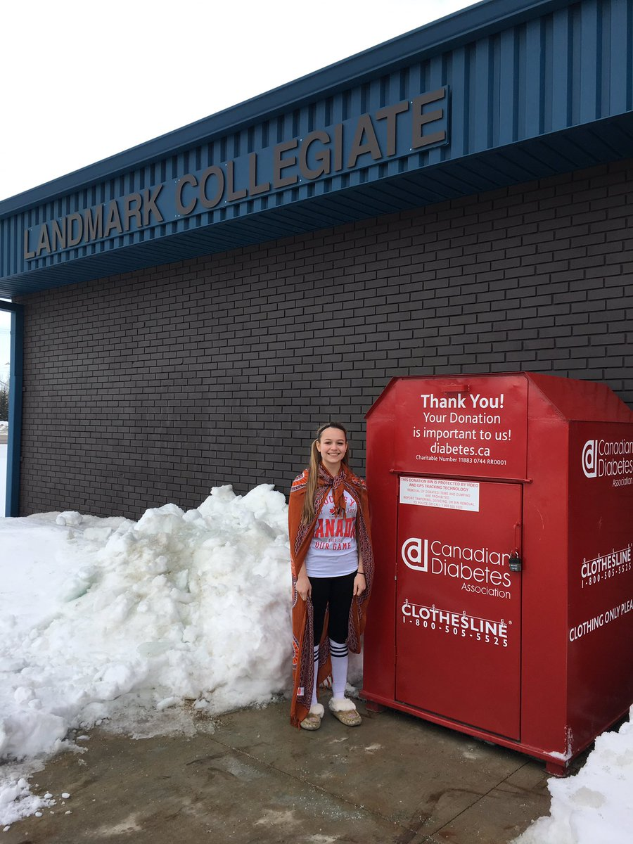 Student initiated project results in Canadian Diabetes donation box at Landmark Collegiate #citizenship #HSDlearns<br>http://pic.twitter.com/YTawLTzzrf