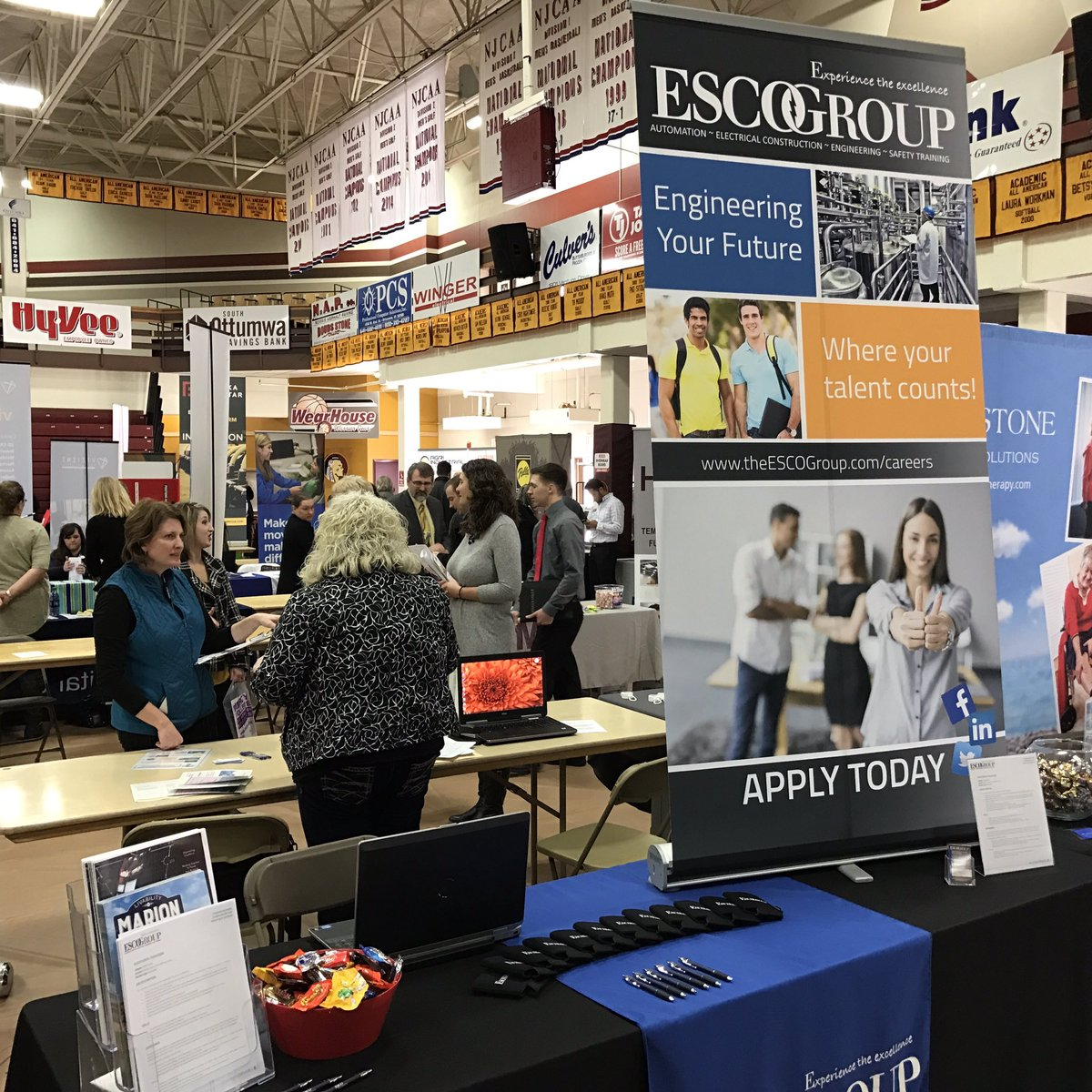 Attending the Southern Iowa Career Fair today @indianhills . We are talking to students about automation internships! #SoIACareerFair <br>http://pic.twitter.com/Tzx7IyIIOj