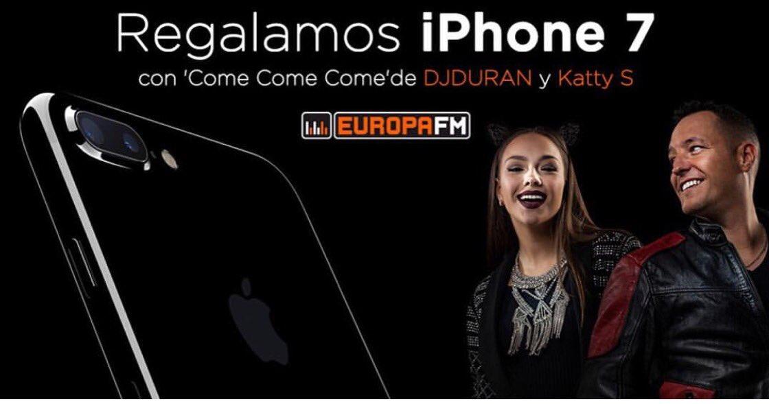 Hoy la mejor historia de #ponteaprueba se lleva un iPhone 7 gracias al mes DJDURAN en @europafm 902103262 620332041<br>http://pic.twitter.com/STqUApnIbW