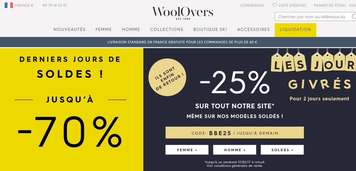 Bénéficiez d&#39;une #remise de 25% sur #tout du site @WooloversFR grâce à ce #code BBE25             https:// goo.gl/9l5ble  &nbsp;  <br>http://pic.twitter.com/59j6WUbBRq