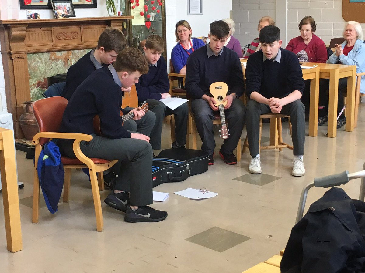 TY students entertaining at the St Mary's Day Care Centre on Tuesday last.