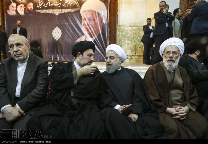 .@HassanRouhani attends late Ayatollah #Rafsanjani's memorial ceremony    http:// theiranproject.com/blog/2017/02/1 6/rouhani-attends-late-ayatollah-rafsanjanis-memorial-ceremony/ &nbsp; … <br>http://pic.twitter.com/uAVGmEF9DH