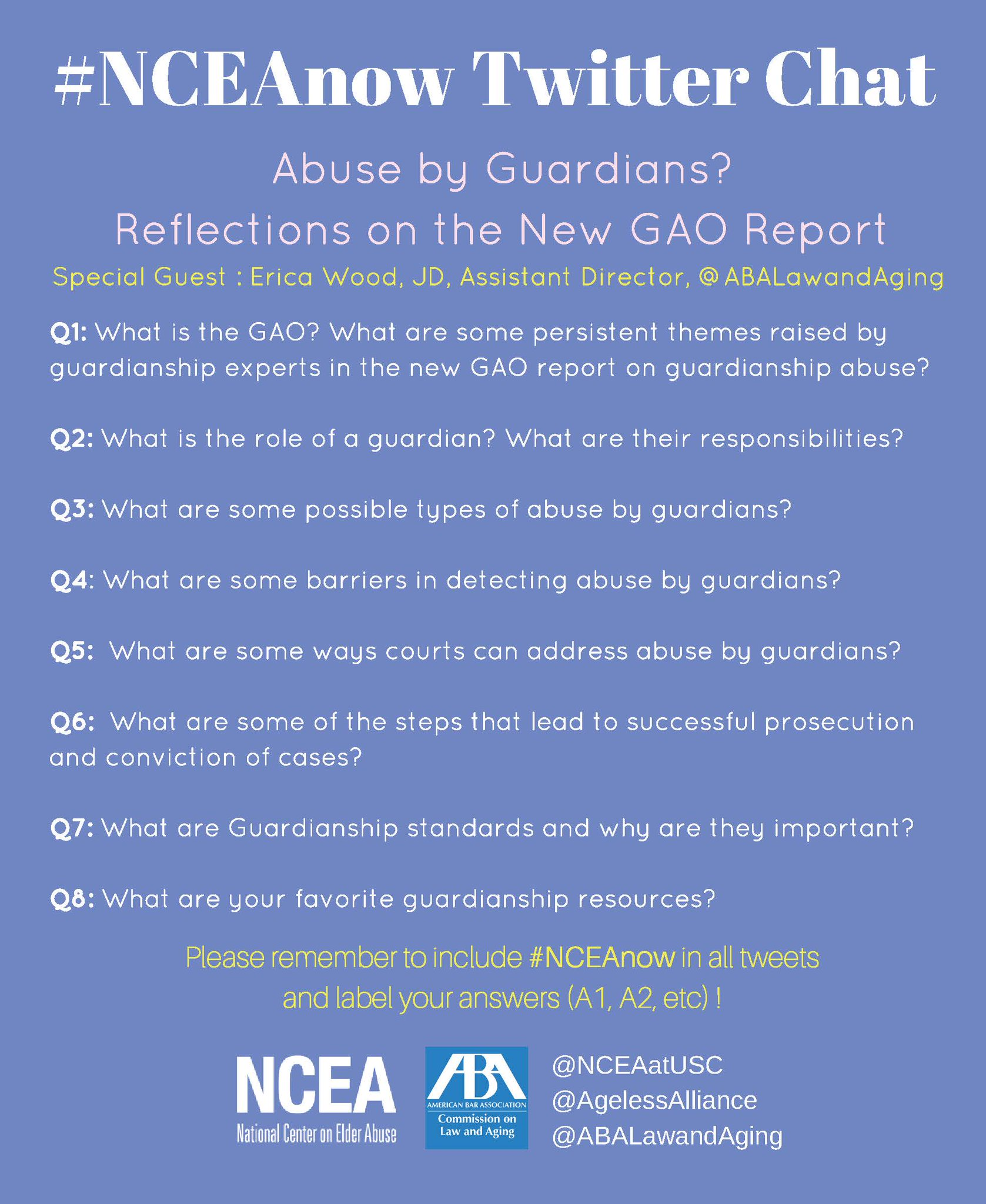 Thumbnail for 2/16/17 #NCEAnow Chat: Abuse by Guardians? Reflections on the New GAO Report