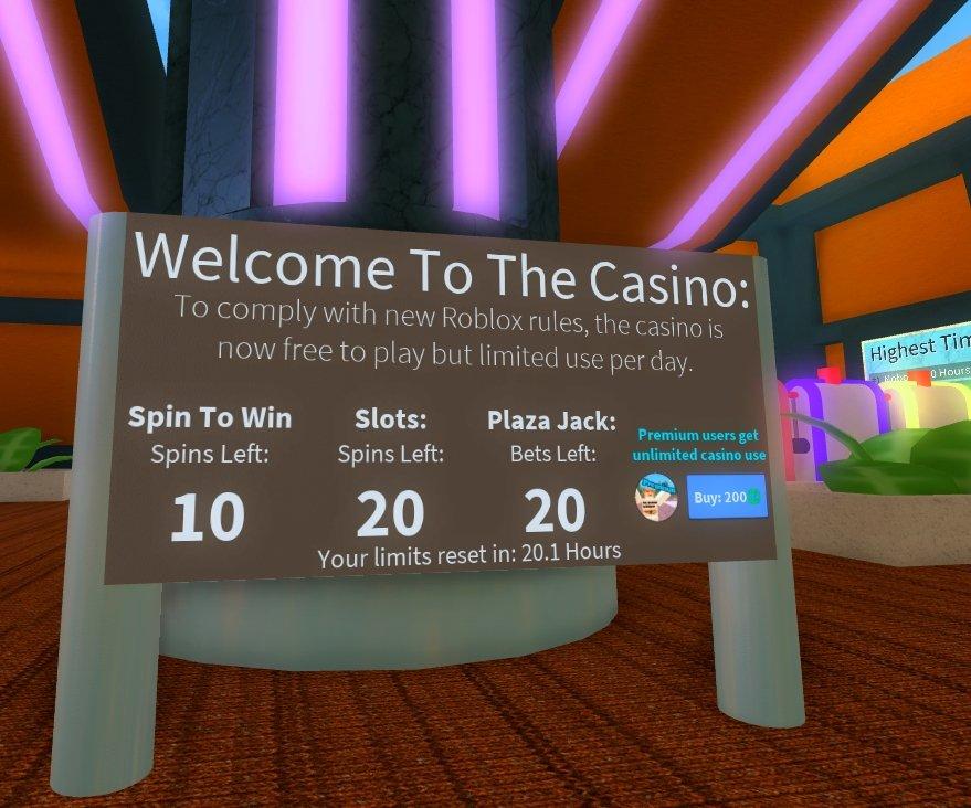 roblox casino the plaza