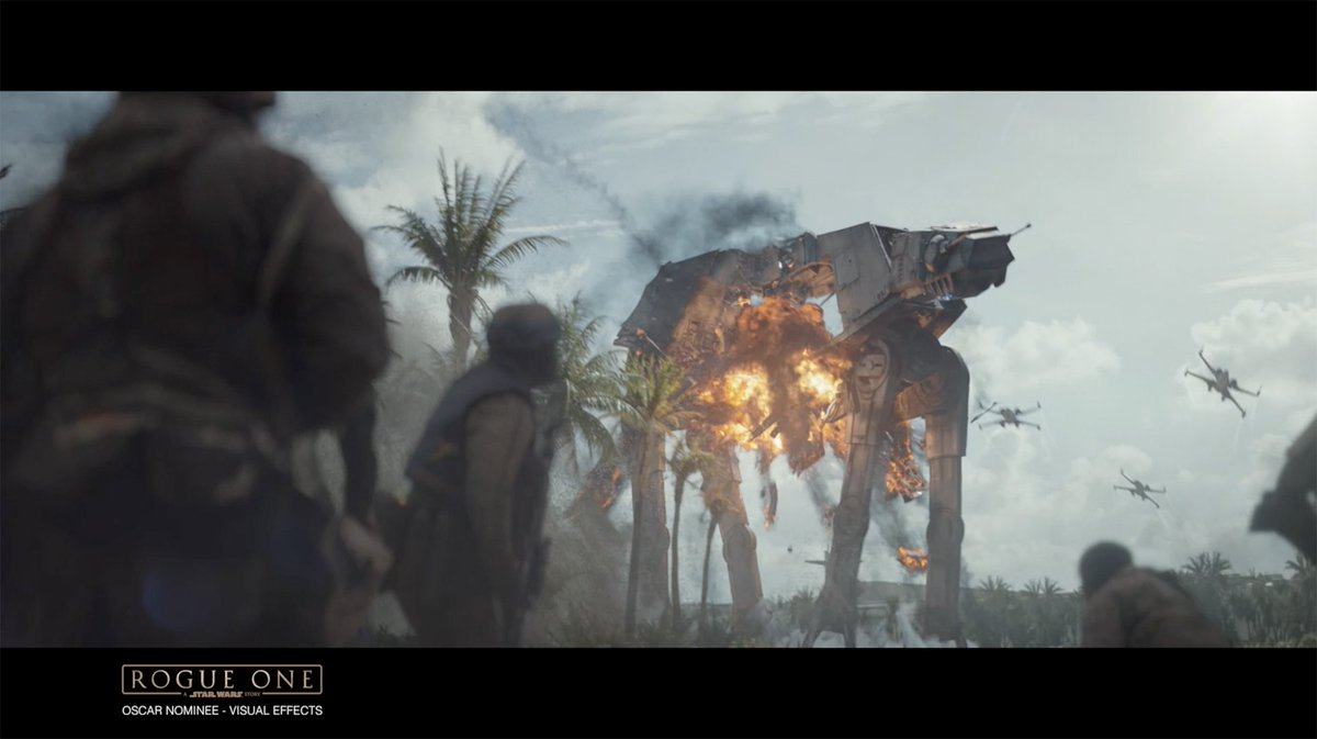 A taste of the Oscar Nominated Visual Effects work behind #RogueOne A @StarWars Story https://t.co/ubqcZzaUyJ https://t.co/hPdm1rZNUC
