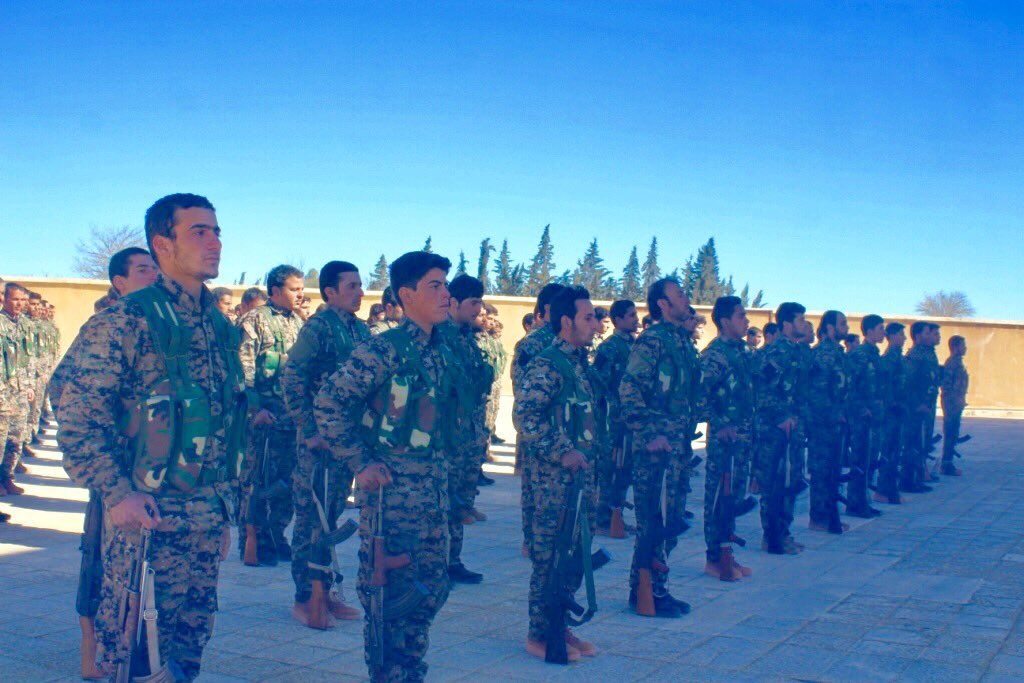 #WrathOfEuphrates 165 more SDF fighters from Raqqa joined phase 4 campaign after completing their military and political training.